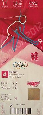 Fine Ticket Olympic 11/8/2012 Men's Hockey Place 3 Australia Vs Great Britain # C90 Modern And Elegant In Fashion London 2012