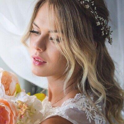 """12"""" Abiti Da Sposa Capelli Argentati Vite, Gioielli Per Capelli, Matrimonio/prom Copricapo-"""