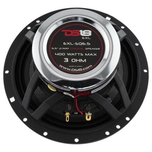 """DS18 EXL 6.5/"""" 2 way Coaxial Door Speakers 800 Watt Fiber Glass Cone 3 Ohm 1 Pair"""