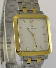 Eterna Edelstahl Uhr / vergoldet / Quarz Vintage
