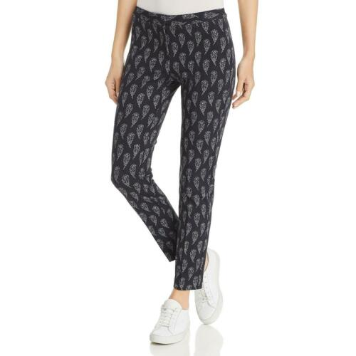 Le Gali Womens Fawn Black Printed Mid-Rise Straight Leg Pants 14 BHFO 0266
