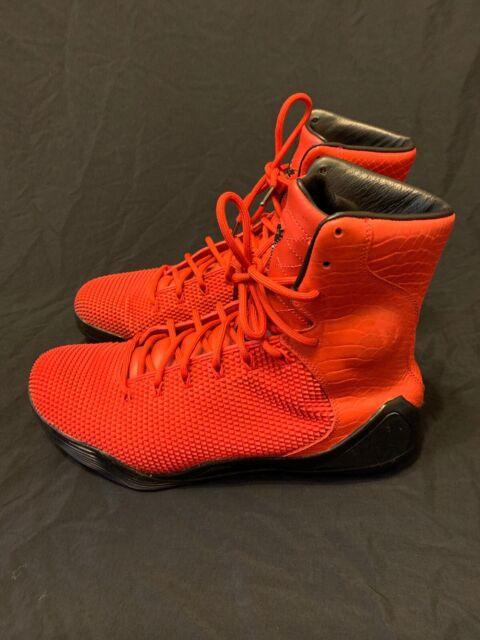 36bef54e6f9443 Nike Kobe 9 IX High KRM EXT QS Challenge Red 716993-600 Men s Size 11.5