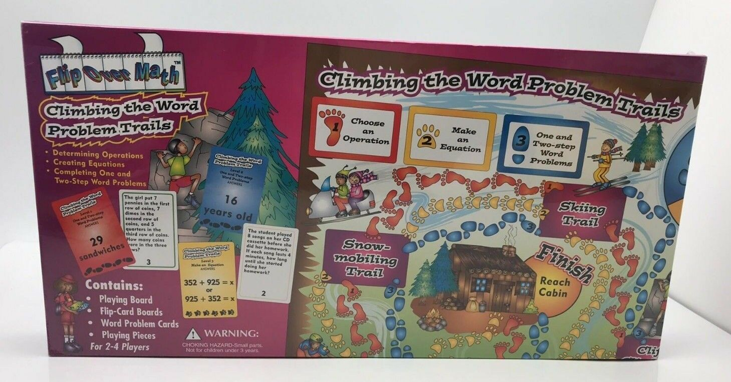 Flip Over Math Climbing the Word Problem Trails