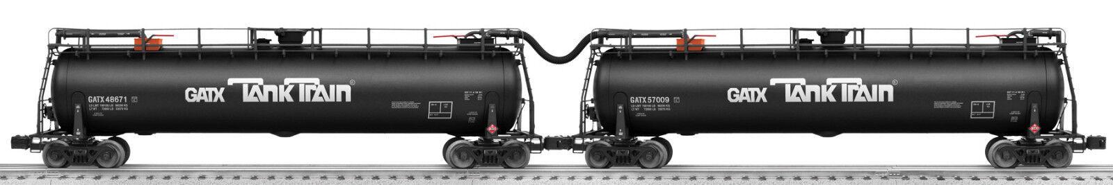 Tren Lionel 6-29774 GATX Tanque coche intermedio o escala 2-CAR Pack Conjunto de petróleo