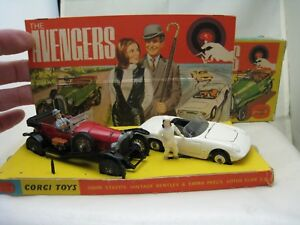 Coffret Cadeau Corgi 40 Gs40 The Avengers Bentley Lotus Elan Original