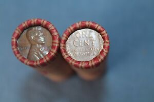 USA-50-x-1-Cent-Lincoln-Wheat-Weizen-Penny-Cents-gemischte-Rolle-1909-1958