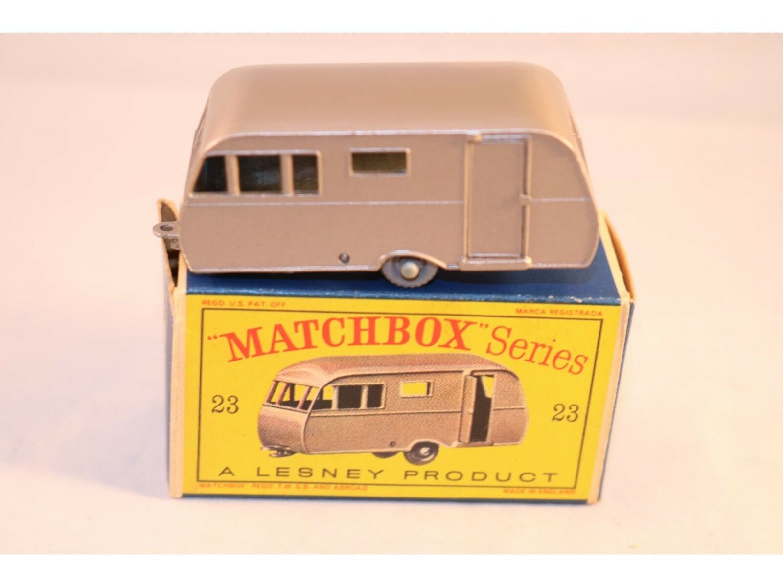 Matchbox Lesney 23 Caravan trailer bronze GPW 99% mint in box a beauty