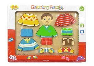 Sonstige Bigjigs Baby Bb056 Dressing Boy Puzzle Neu 100% Original