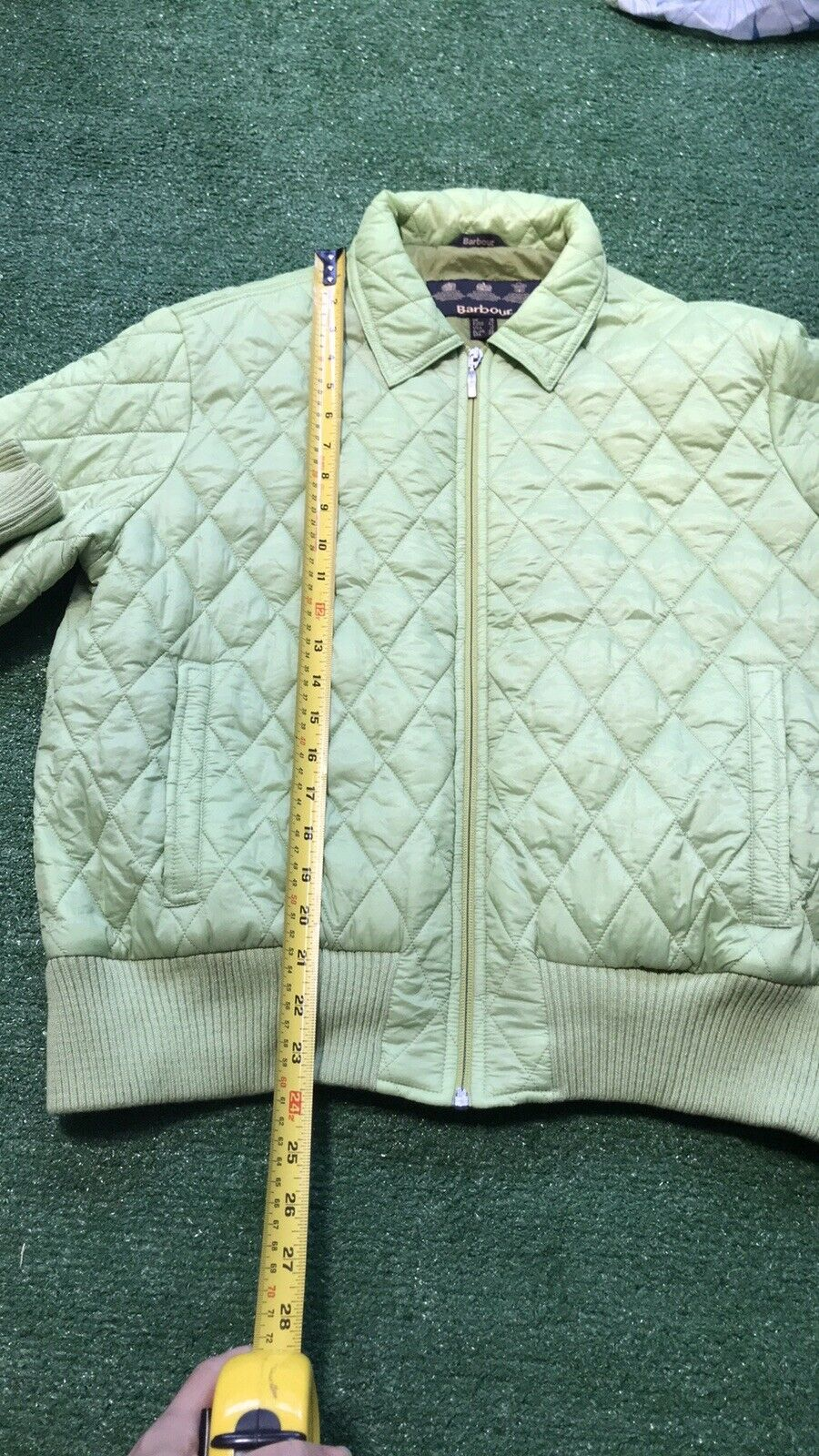 Rare Barbour Green Quilted Bomber Puffer Jacket P… - image 10