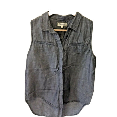 Madewell Womens Size Small Cotton Linen Chambray D