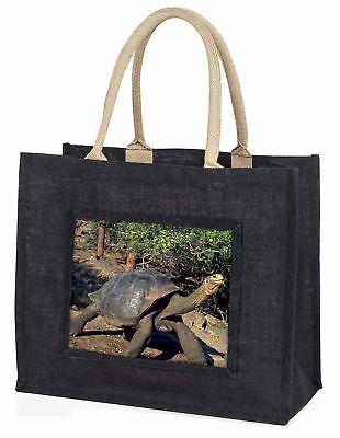 Riese Galapagos Landschildkröte große schwarze Einkaufstasche Weihnachtsgeschenk