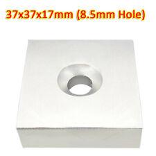 N35 37x37x17mm Ndfeb Neodymium Magnets Block Neo Diy Rare Earth 85mm Hole
