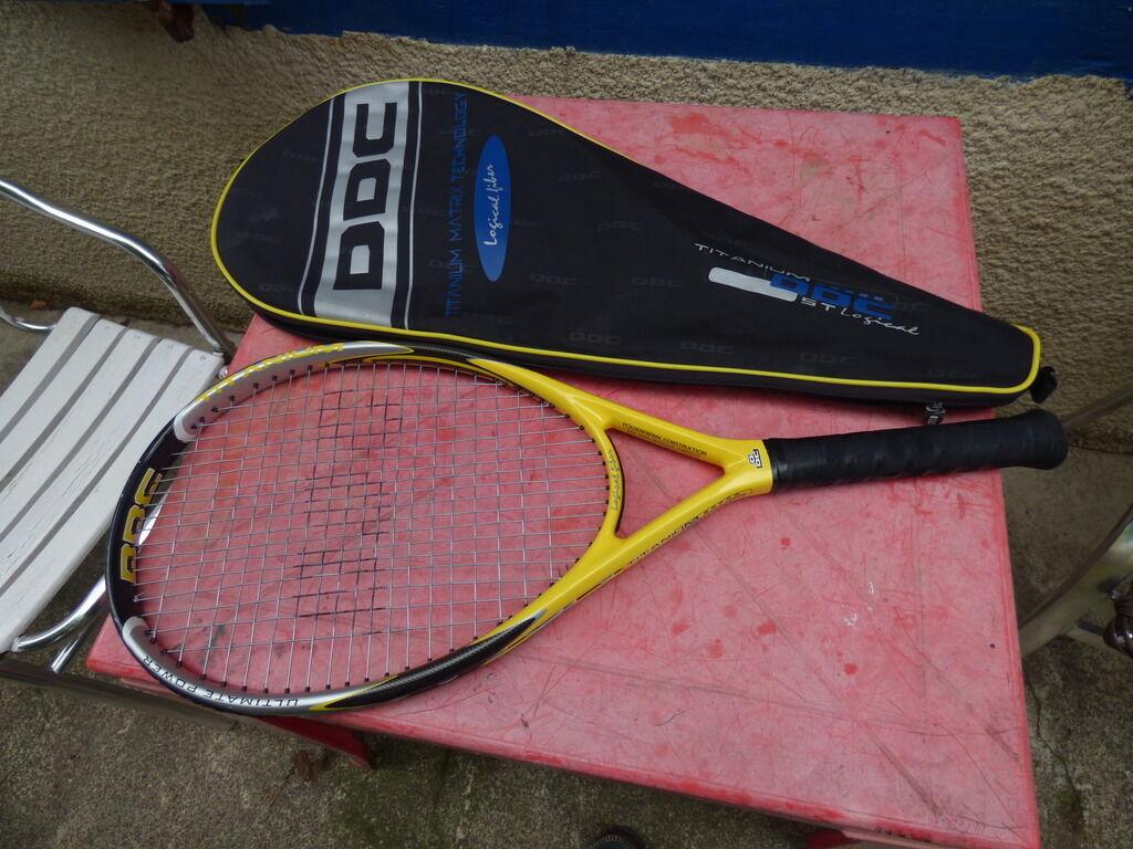 Raquette de tennis DDCTitanium avec housse L3 4 3 8