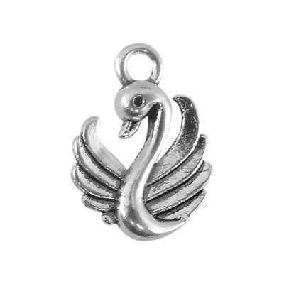 LOT de 50 PENDENTIFS ARGENTES perles breloques COEURS HEART 8 x 7mm FIMO bijoux
