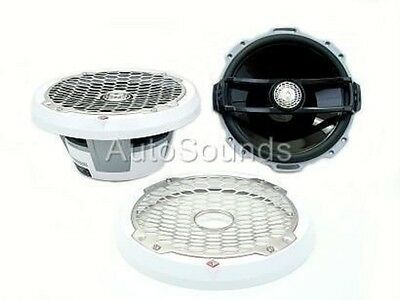 "New Pair of Rockford Fosgate Punch M262 White 6"" 2-Way Marine Boat Speakers"