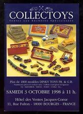 COLLECTOYS  3eme  vente de jouets anciens    3 octobre 1998