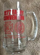 1977 New York State Firemen's Convention vintage glass beer mug firefighter