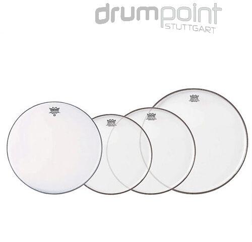 "Remo Propack Fellsatz 10/"" 12/"" 14/"" Emperor clear 14 Ambassador coated Drumheads"