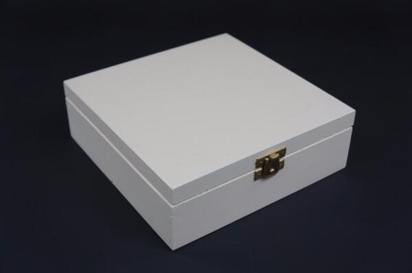 1 X Light Grey Wooden Jewellery Treasure Chest Keepsake Box Trinket Storage P18g De Mondholte Schoonmaken.