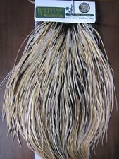 Angelsport-Fliegen-Bindematerialien Fly Tying Whiting Silver Rooster Saddle White dyed Copper Olive #B