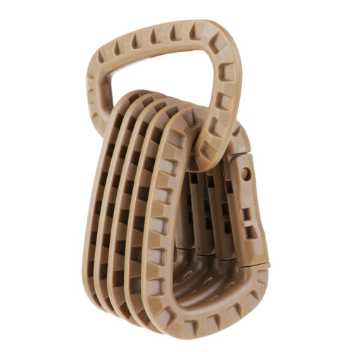 6x Heavy Duty Plastic Carabiner  Straight Gate D  Keychain Clips