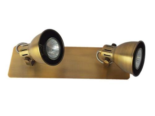 Deckenstrahler Spotlampe Letora chrom oder altmessing Wandleuchte Deckenleuchte