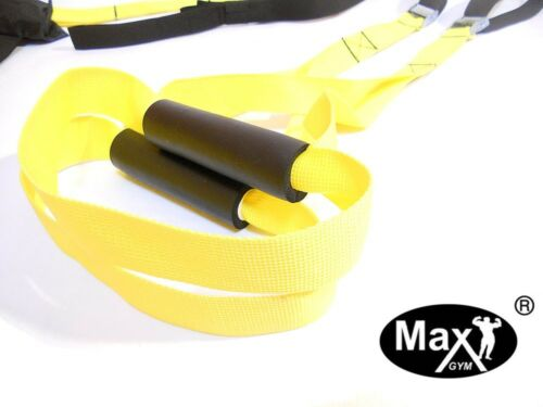 Home Fitness Oryginal yellow MaxGym® trainer Suspension Straps Body Trainer