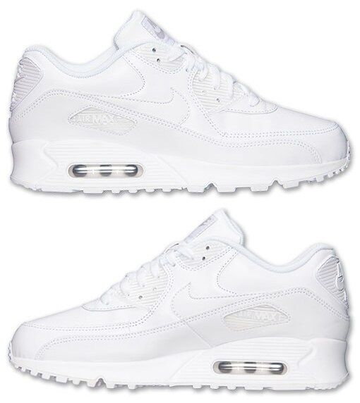 new arrival 86fba ef32d NIKE AIR MAX 90 LEATHER MEN M RUNNING WHITE WHITE WHITE BRAND NEW IN BOX  AUTHENTIC SELECT SZ 5e88e7