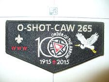 O Shot Caw Lodge 265,2015,100th Ann OA,SMY Felt Flap,Heron Left,South Florida,FL