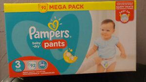 Pampers Baby Dry Pants Taille 3 (6-11 kg) Méga pack x 92 culottes - France - État : Neuf: Objet neuf et intact, n'ayant jamais servi, non ouvert, vendu dans son emballage d'origine (lorsqu'il y en a un). L'emballage doit tre le mme que celui de l'objet vendu en magasin, sauf si l'objet a été emballé par le fabricant d - France