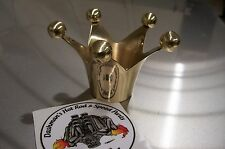 Brass Crown Shifter Knob For Bobber Rat Hot Rod Gas Cap Or Side Shift Jockey Nob