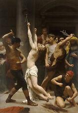 Flagellation Flogging of Christ Bouguereau Crucifixion of Jesus A3 Poster Print