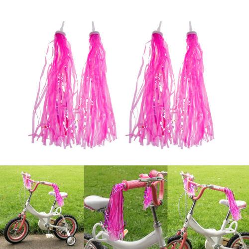 2 Paare Kinder Fahrrad Lenker Streamer Fahrrad Griffe Quasten Bänder
