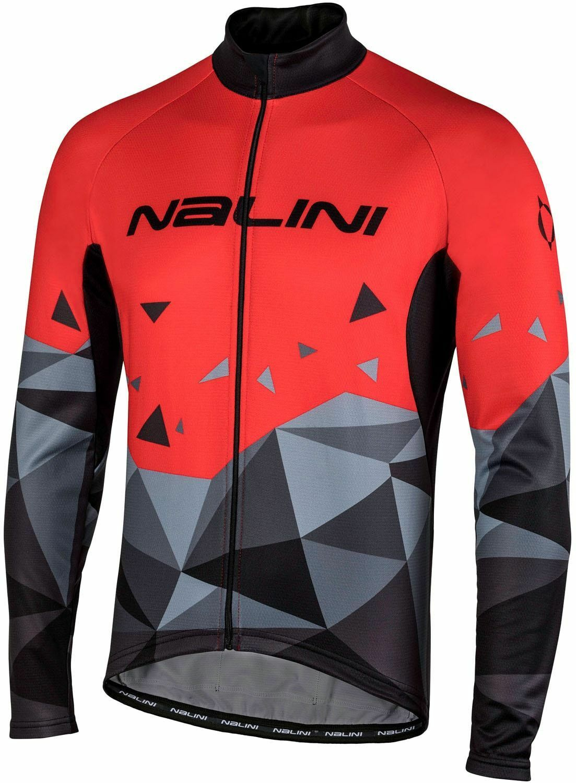 Nalini PRO Logo Jersey Radtrikot Langarm svart röt (UVP  79,90 EUR)