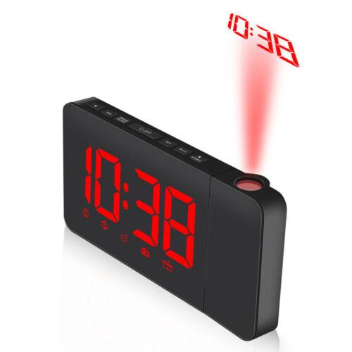 DHL!! Digital Radiowecker mit Projektion Uhrenradio Funkwecker UKW Schlummer