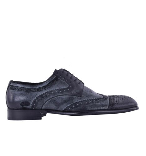 DOLCE /& GABBANA Suede Business Formal Derby Shoes Black 05065
