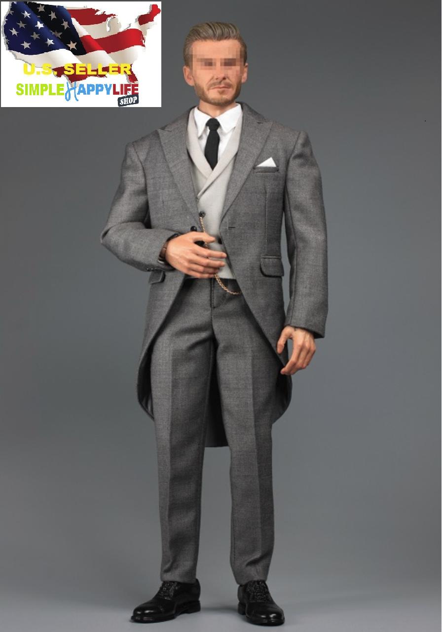 1 6 Gentleman grau Suit Royal Wedding British tuxedo for hot toys coomodel ❶USA❶