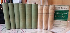 10 vols STUDY OF HISTORY by Toynbee HC Oxford VG HC Historiography Classic