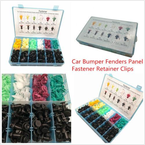 330 Pcs Car SUV Push Pin Rivet Clips Door Fenders Bumper Panel Fastener Retainer