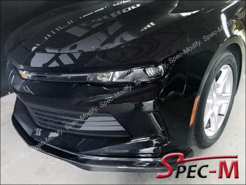 16-17 Chevy Camaro I4 V6 Gen6 T7 Carbon Fiber Front Bumper Lip Spoiler CF