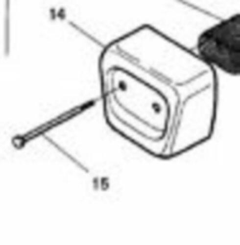 2 bolts studs screws Husqvarna 36 41 136 141 530037254 530016044 Muffler cover