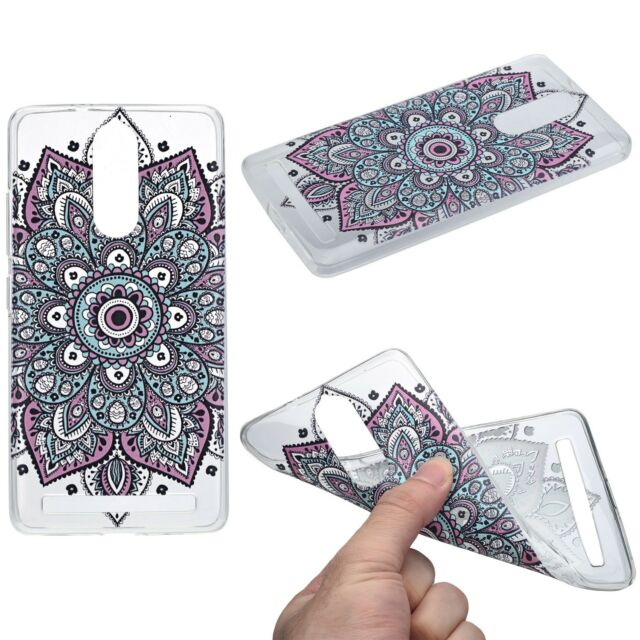 wholesale dealer 4e119 bd836 Henna Cover for Lenovo Vibe K5 Note Case Protective Cover Frame Silicone  Tattoo