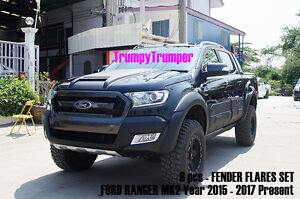 For Ford Ranger 4dr Mk2 Facelift 2015 17 Off-Road Fender Flares Wheel Arch Nuts