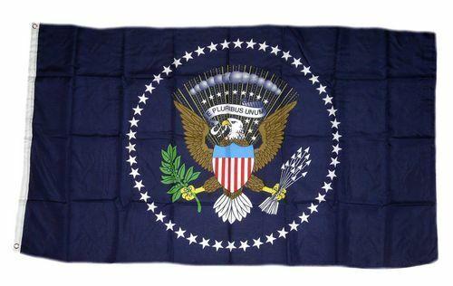 Fahne USA Präsident blau Hissflagge 90 x 150 cm Flagge