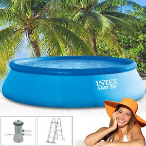 intex 366x91 cm komplettset filterpumpe schwimmbecken schwimmbad swimming pool ebay. Black Bedroom Furniture Sets. Home Design Ideas