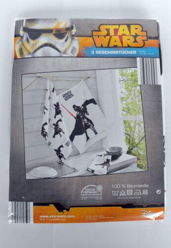 Disney Star Wars 3 stuck  Geschirrtucher  100/% Baumwolle Neu /& OVP
