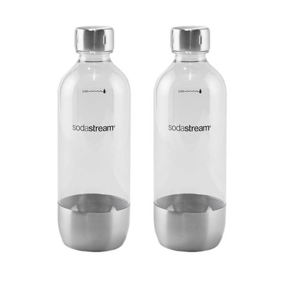 Carbonating Bottles in Metal Set of 2 By SodaStream High-Strength PET BPA FREE