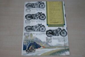 195390) Norton-modèle Programme Pays-bas-prospectus 193?-afficher Le Titre D'origine Jolie Et ColoréE