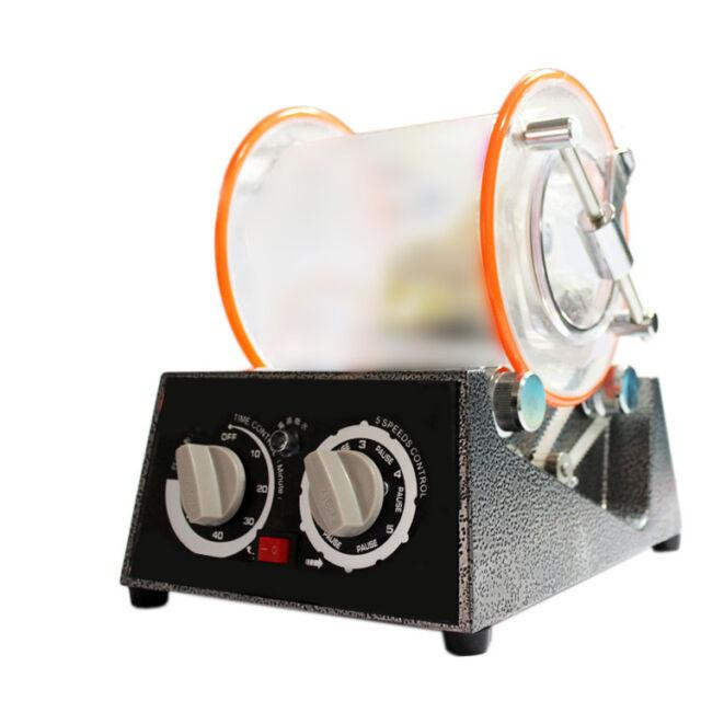 Jewelry Polisher Tumbler Mini Polisher Tumbler Rotary Tumbler Surface Polisher 8.2 Lbs Capacity 110V Jewelry Polishing Finishing Machine