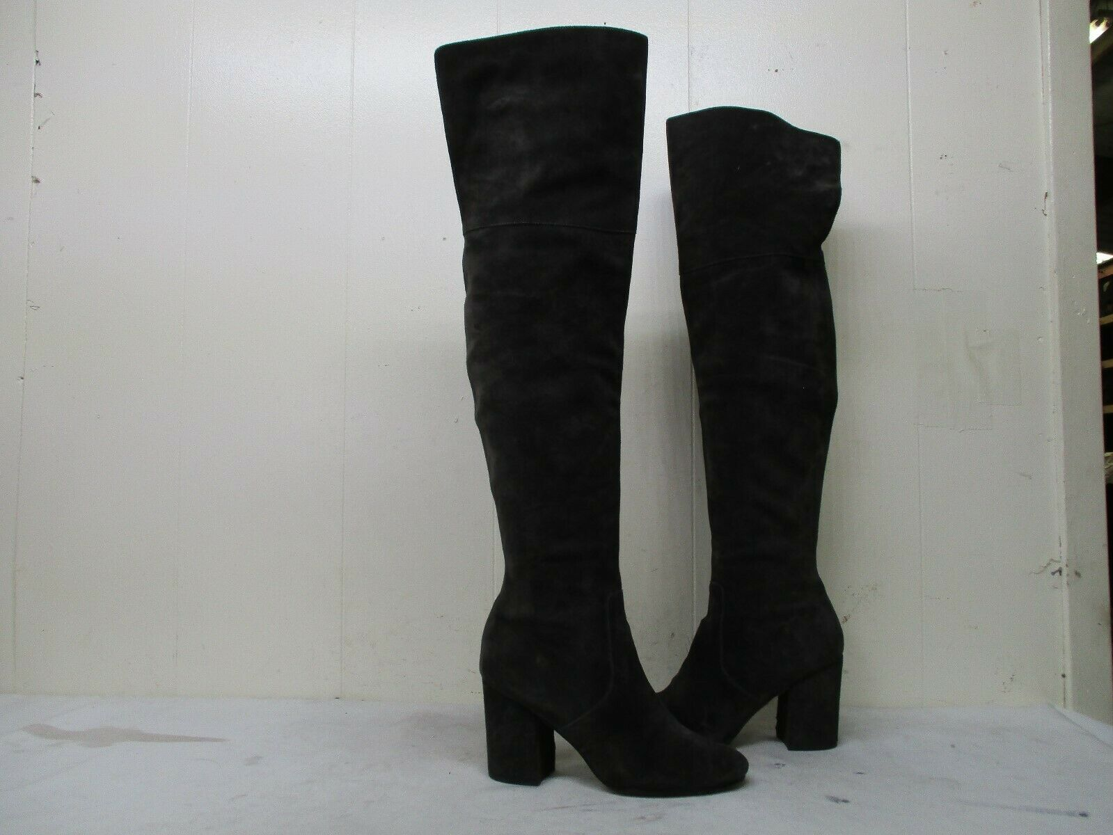 VIA SPIGA Brown Suede Leather Over The Knee High Heel Boots Womens Size 7.5 M